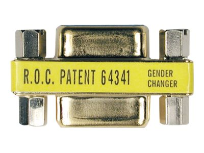 Tripp Lite Gender Changer DB9F DB9F, gold, P150-000, 4833131, Adapters & Port Converters