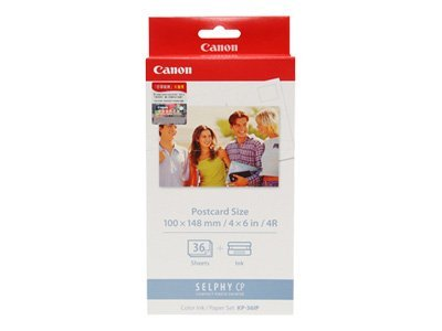 Canon 4 x 6 Color Ink Paper Set KP-36IP (36 Sheets), 7737A001, 367104, Paper, Labels & Other Print Media