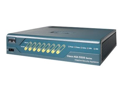 Cisco ASA 5505 Security Appliance 10 IPsec vpn, 2 SSL, ASA5505-BUN-K9, 7190126, Network Firewall/VPN - Hardware
