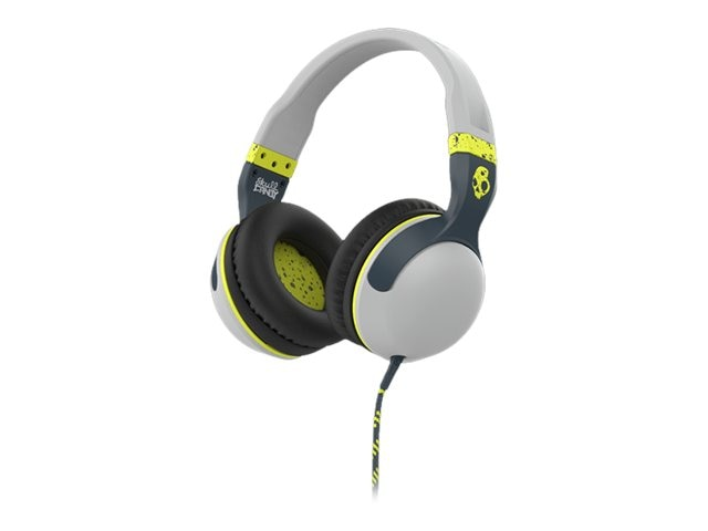 Skullcandy Hesh 2 Headphones - Light Gray Dark Gray Hot Lime, S6HSGY-384, 23836759, Headsets (w/ microphone)