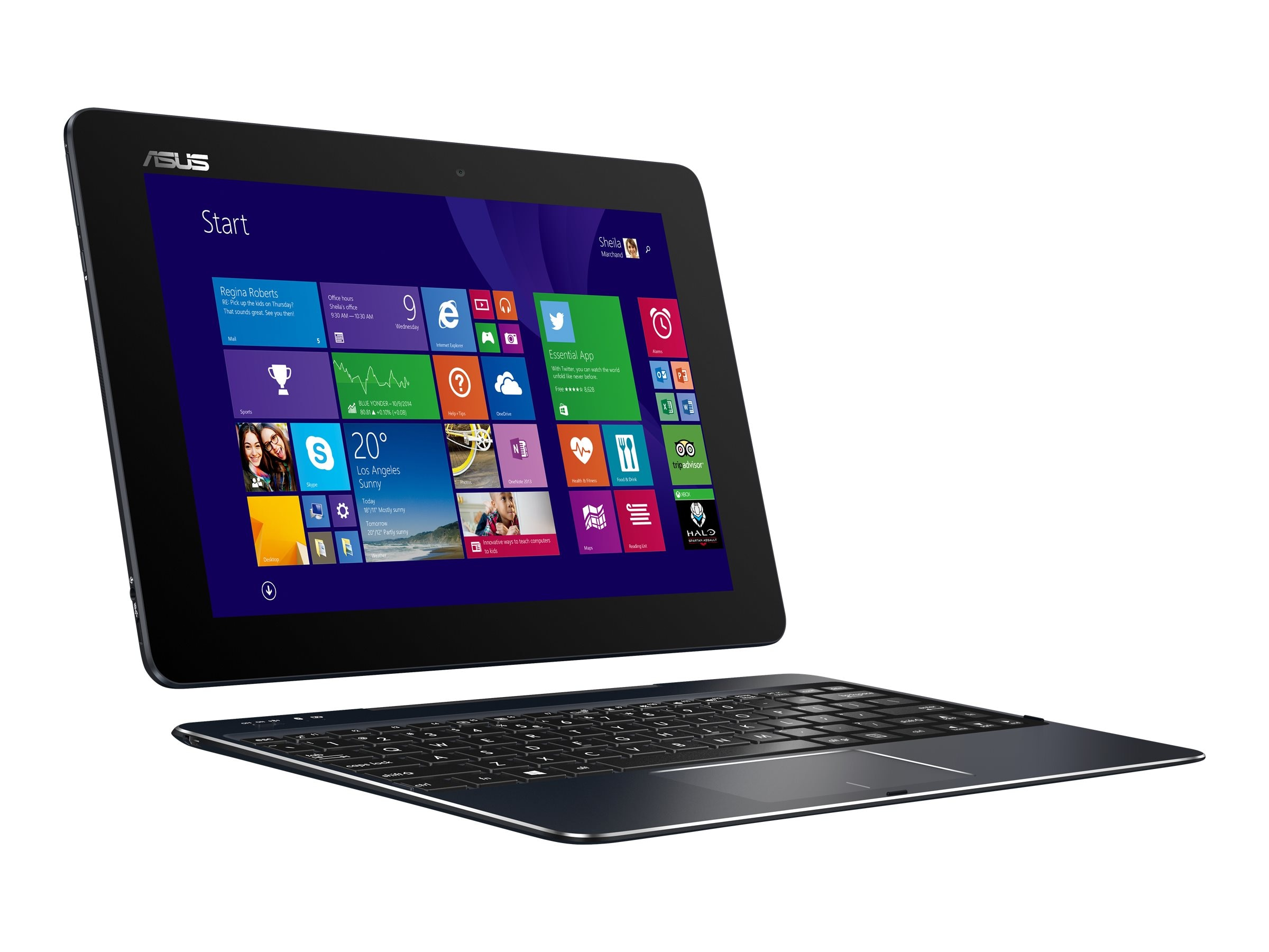 Asus Transformer Book T100HA-C4 Atom x5-Z8500 4GB 64GB SSD 10.1 W10H Gray, T100HA-C4-GR
