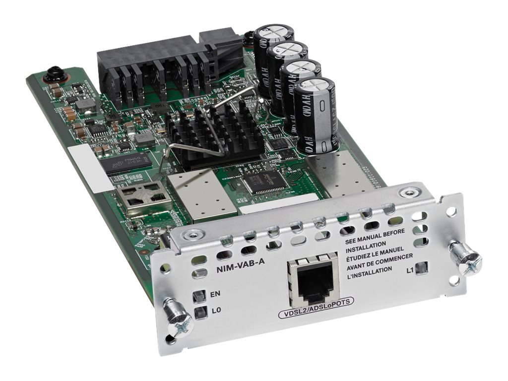 Cisco Multi-Mode VDSL2 ADSL 2 2+ NIM Annex A, NIM-VAB-A, 21016183, Network Device Modules & Accessories