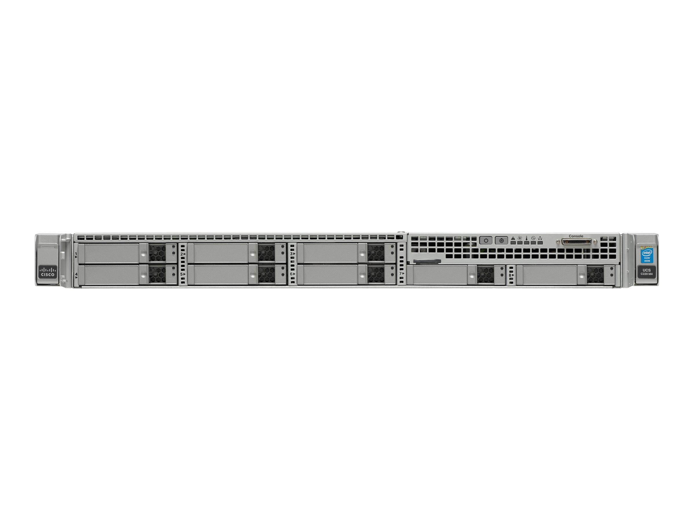 Cisco UCS Smart Play Select C220 M4S Advanced (2x)E5-2670 v3 2.3GHz 128GB 8x2.5Bays VIC1227 2x10Gb 2x770W, UCS-SPL-C220M4-A2, 22073999, Servers