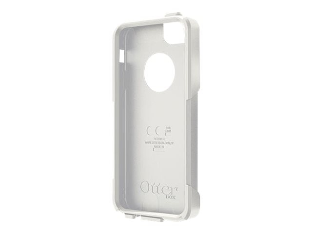 OtterBox Slip Cover w  Screen Accessory Commuter for iPhone 5 5S, White, 78-29744, 22065770, Carrying Cases - Phones/PDAs