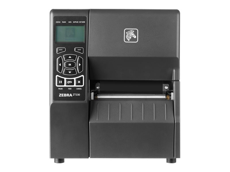 Zebra ZT230 DT 203dpi 4 Serial USB Parallel ZPLII Printer w  Tear Bar & US Power Cord, ZT23042-D01100FZ