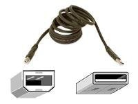 Belkin Pro Series USB 2.0 Cable, A to B, Gray, 3ft, F3U133-03, 147046, Cables