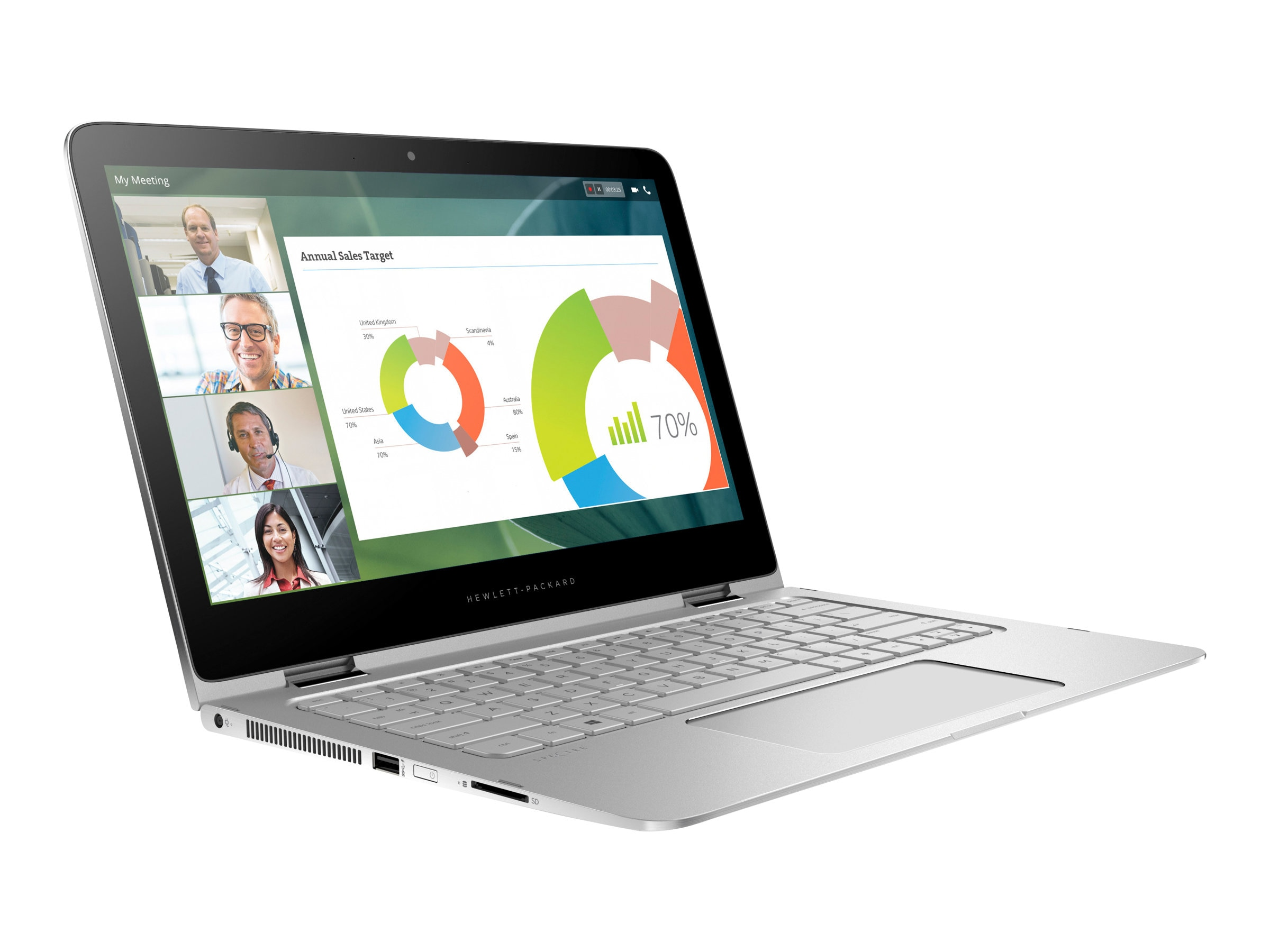 HP Shape the Future Spectre Pro x360 Core i5-6200U 2.3GHz 8GB 128GB 13.3, Y2R23UP#ABA
