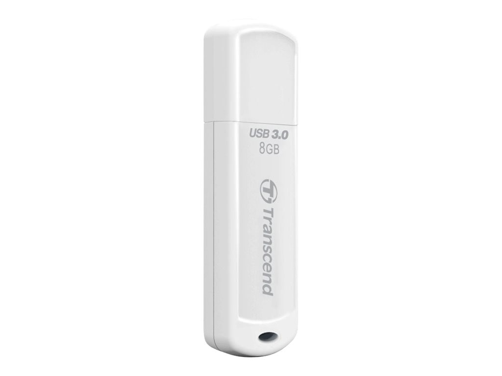 Transcend 8GB JetFlash 730 USB 3.0 Flash Drive, White, TS8GJF730