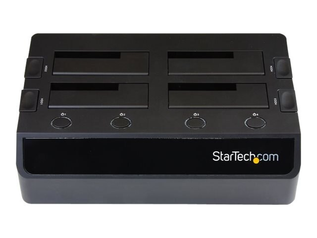 StarTech.com USB 3.0 to 4-Bay SATA 6Gbs 2.5 3.5Solid State Drive Hard Drive Docking Station w  UASP & Dual Fans, SDOCK4U33