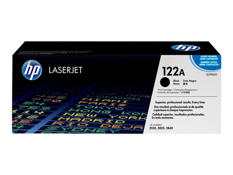 HP 122A (Q3960A) Black Original LaserJet Toner Cartridge for HP Color LaserJet 2550 2800 (2820 2840)