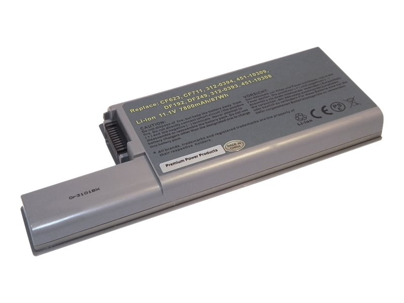 Ereplacements 9-Cell Battery for Dell D820 D830, 312-0394-ER, 21163861, Batteries - Notebook