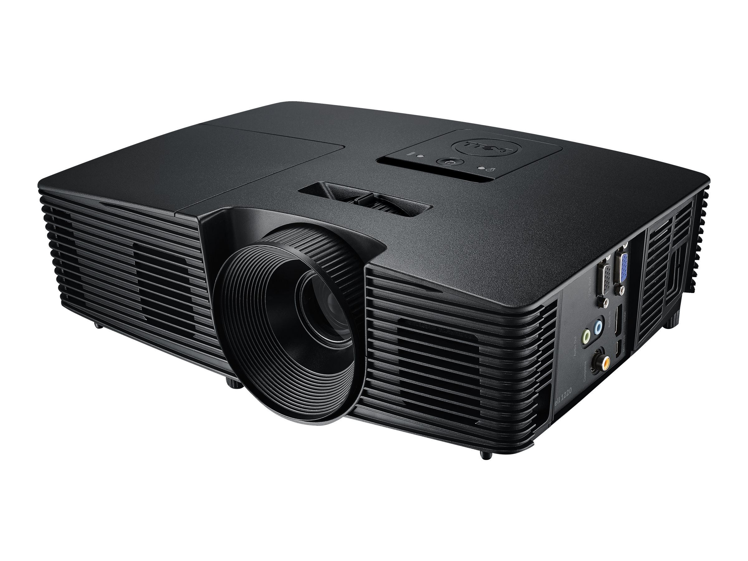 Dell 1220 SVGA DLP Projector, 2700 Lumens, Black