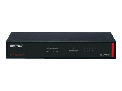 BUFFALO 5-Port Gig Metal Unmanaged Switch, BS-GU2005, 18368495, Network Switches