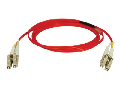 Tripp Lite Fiber Optic Cable, LC-LC, 62.5 125, Duplex, Multimode, Red, 1m