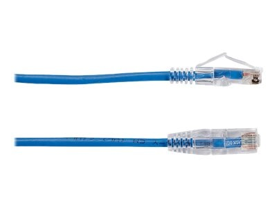 Black Box Slim-Net CAT6 28AWG 250MHz Patch Cable, Blue, 3ft, C6PC28-BL-03