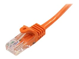 StarTech.com Cat5e Snagless Patch Cable, Orange, 6ft, 45PATCH6OR, 13377173, Cables