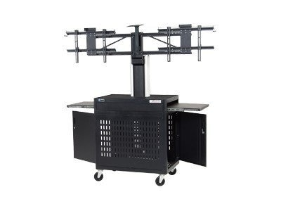 Da-Lite Metal Dual Monitor Video Conferencing Cart, 7521, 15034158, Audio/Video Conference Hardware