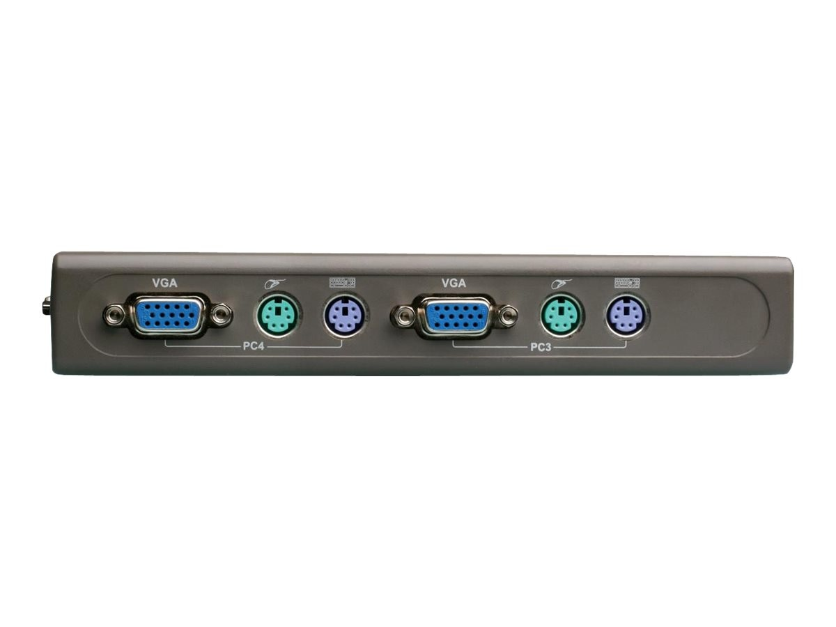 D-Link 4-port KVM Switch with (2) 6ft. KVM Cables, DKVM-4K, 5241428, KVM Switches