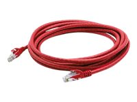 ACP-EP Cat6A RJ45 M M Copper Patch Cable, Red, 2ft