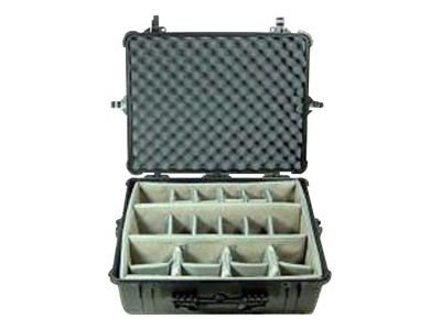 Pelican 1600 Case w  Padded Dividers, Black