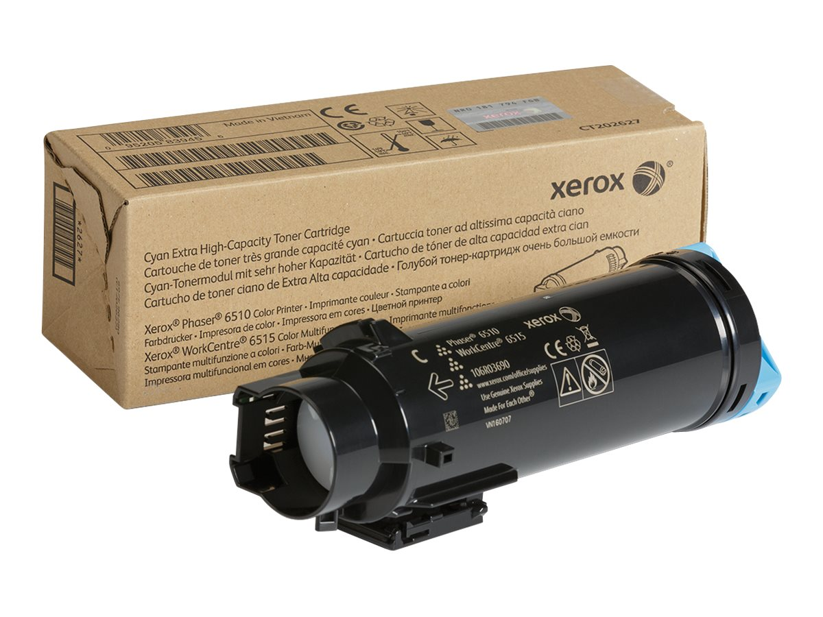 Xerox Cyan Extra High Capacity Toner Cartridge for Phaser 6510 & WorkCentre 6515 Series, 106R03690