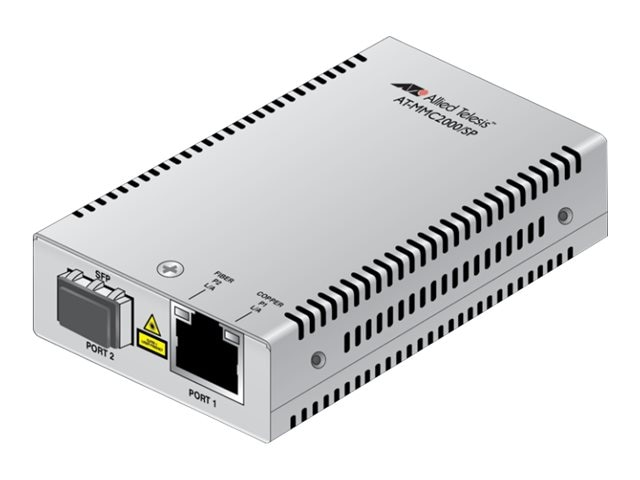 Allied Telesis 10 100 1000T TO 1000X SFP Mini Media Converter Universal PSU, AT-MMC2000/SP-60, 20521639, Network Transceivers
