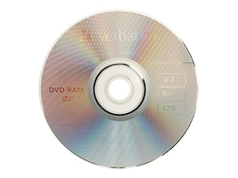 Verbatim 3x 4.7GB DVD-RAM Disc, 95002, 5712699, DVD Media