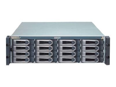 Promise 3U 16-Bay 3G FC SAS SATA RAID Storage Array w  (8) 2TB SAS Hard Drives