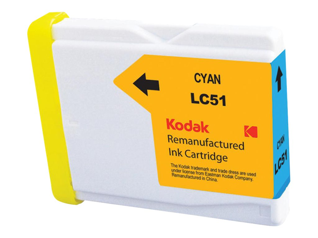 Kodak LC51C Cyan Ink Cartridge for Brother DCP, LC51C-KD, 31397910, Ink Cartridges & Ink Refill Kits