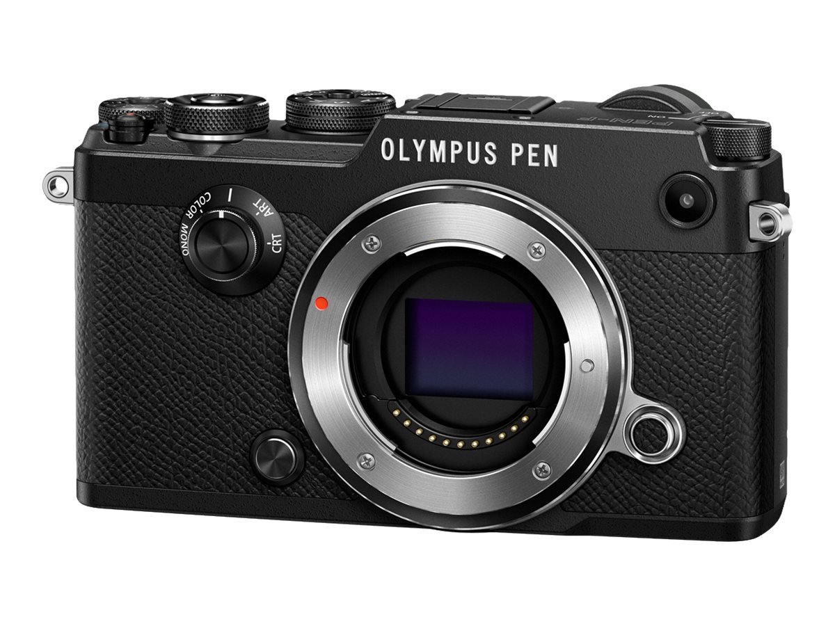 Olympus PEN-F Mirrorless Digital Camera, 20MP, Black (Body Only), V204060BU000, 31474946, Cameras - Digital - SLR