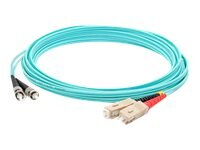 ACP-EP ST-SC OM3 Multimode LOMM Fiber Patch Cable, Aqua, 15m, ADD-ST-SC-15M5OM3