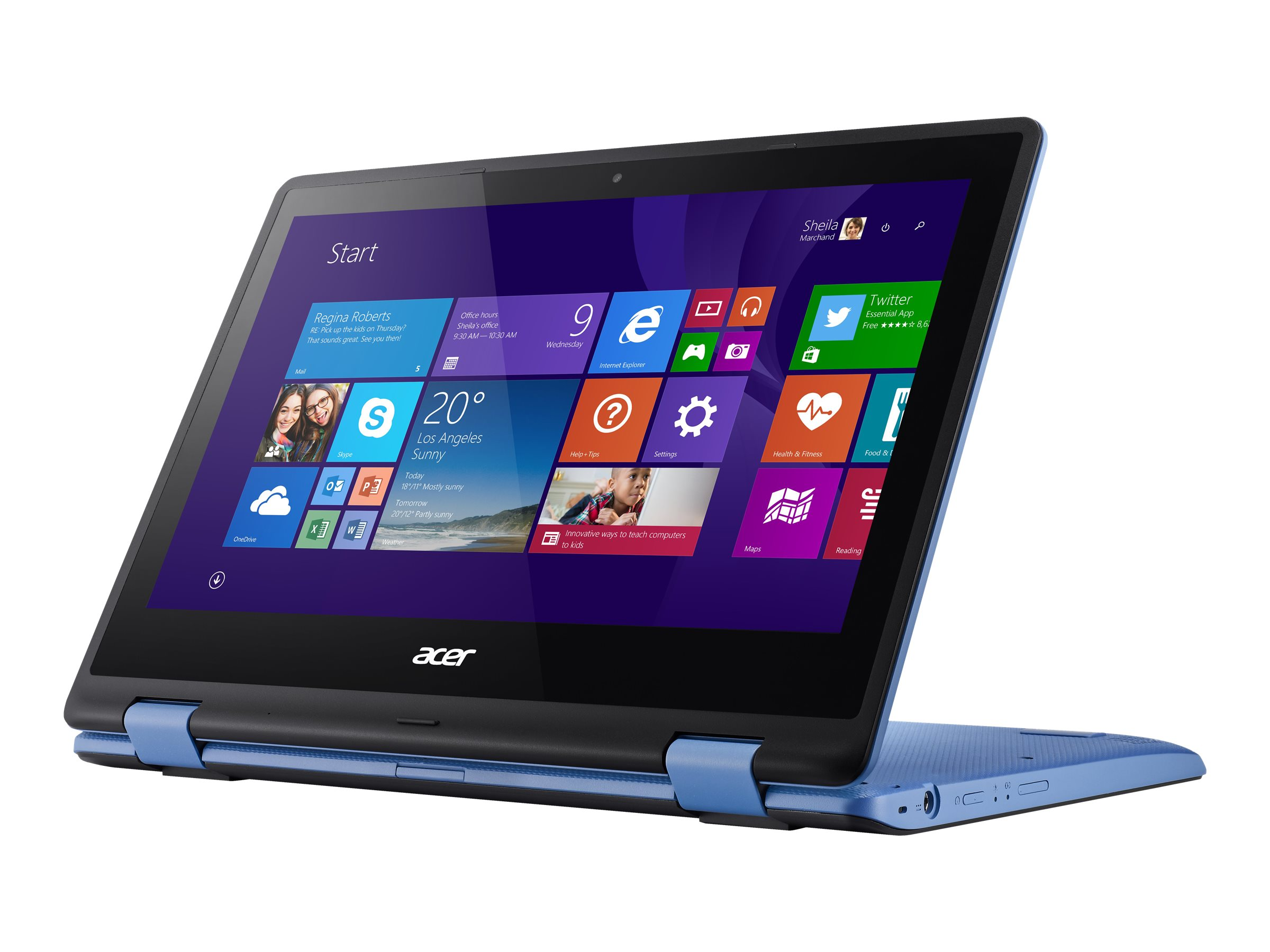 Acer Aspire R3-131T-C8B3 Celeron N3060 1.6GHz 4GB 64GB SSD ac GNIC BT WC 4C 11.6 HD MT W10H64 Blue