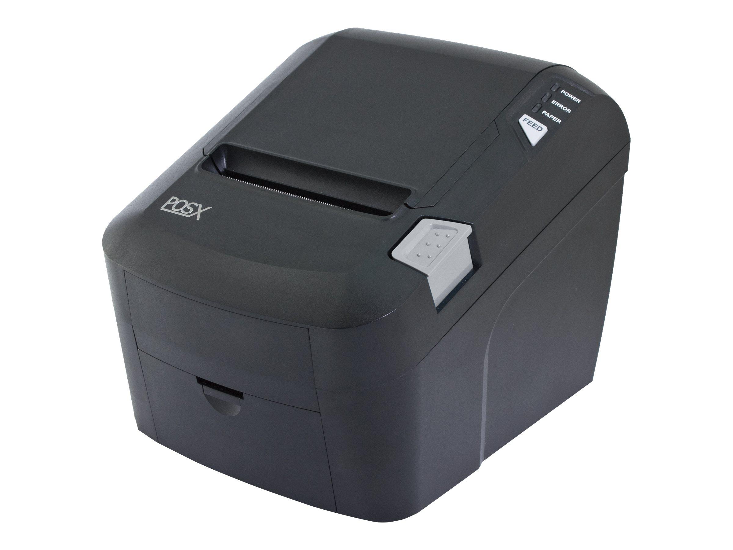 Pos-X EVO Green USB Serial Ethernet Thermal Receipt Printer w  AC
