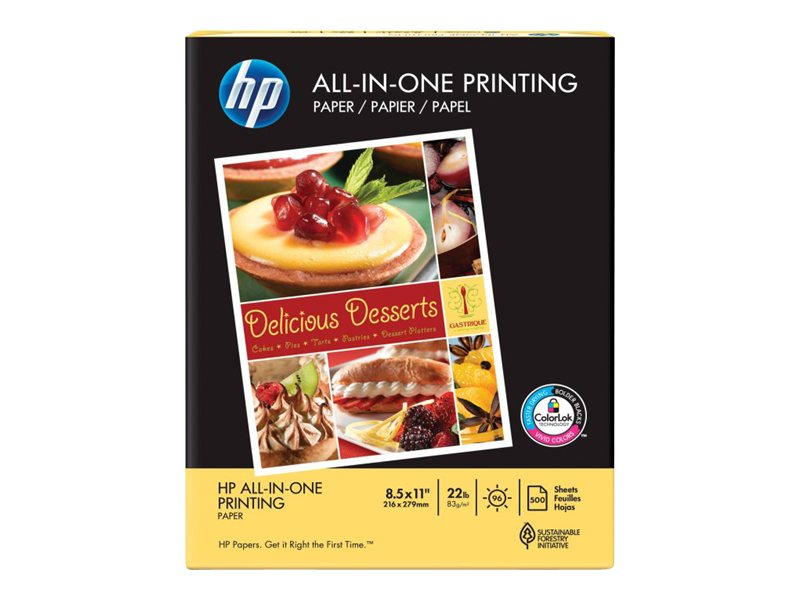 HP 8.5 x 11 All-In-One Paper (500 Sheets), 207010, 6117787, Paper, Labels & Other Print Media