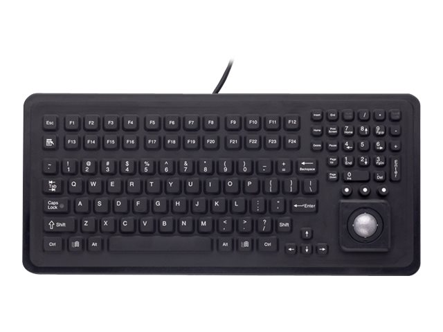iKEY Panel Mount Keyboard with ABS Plastic Bezel with Trackball, PMU-5K-TB-PS2, 12421662, Keyboards & Keypads