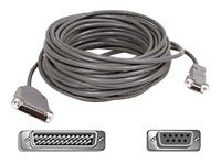Belkin Pro Series AT Serial Modem Cable, DB9 DB25, shielded, 50 ft, A2L088-50, 217097, Cables