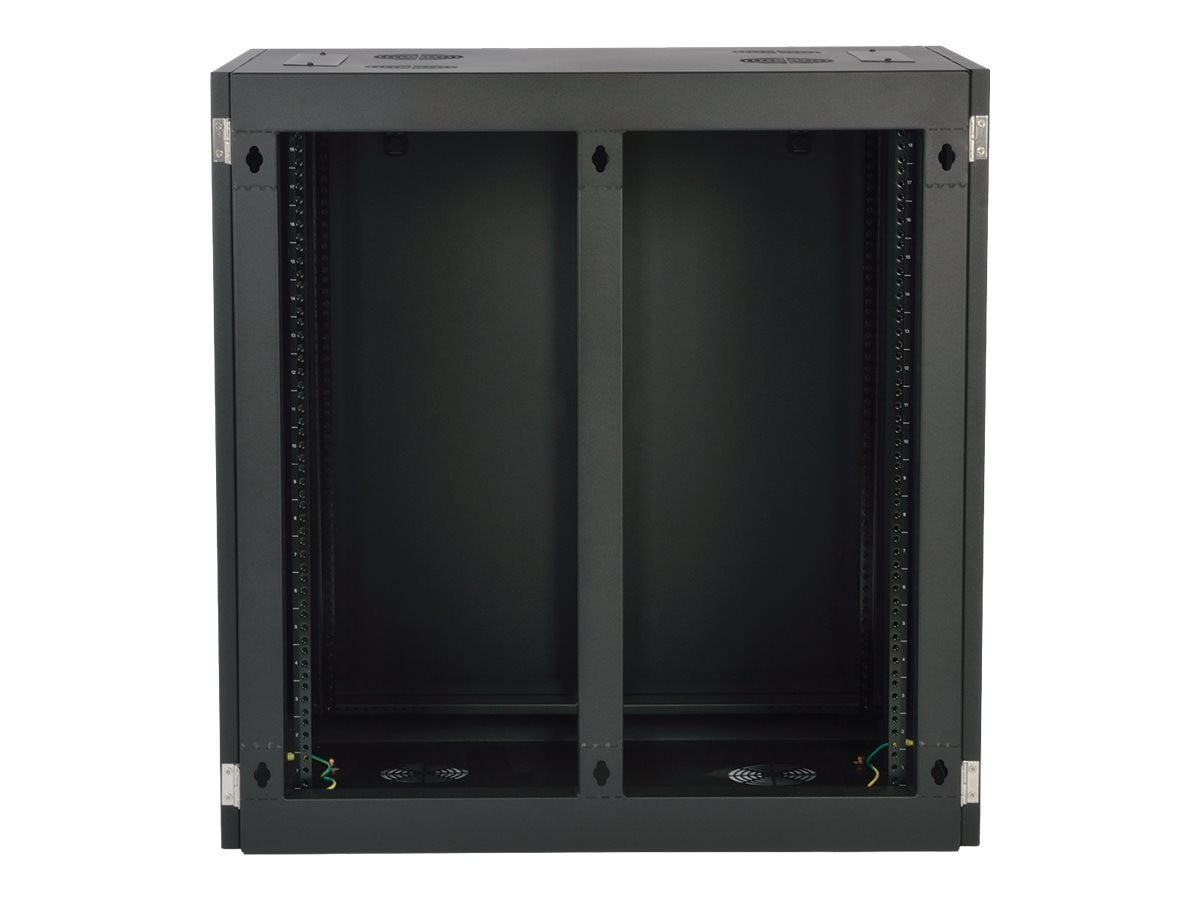 Tripp Lite SmartRack Heavy-Duty Side-Mount Wall-Mount Rack Enclosure Cabinet, SRW18UHD