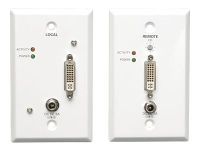 Tripp Lite DVI over Cat5 Cat6 Extender, Extended Range Video Transmitter and Rec, B140-1A1-WP, 13694128, Premise Wiring Equipment