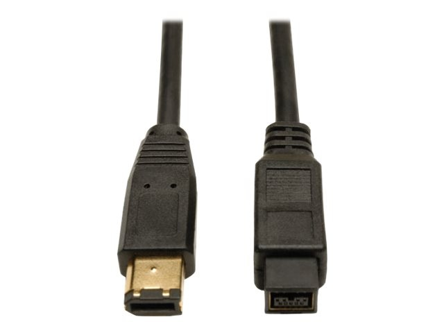 Tripp Lite 9-pin to 6-pin IEEE 1394b Firewire 800 Gold Cable, 10ft, F017-010