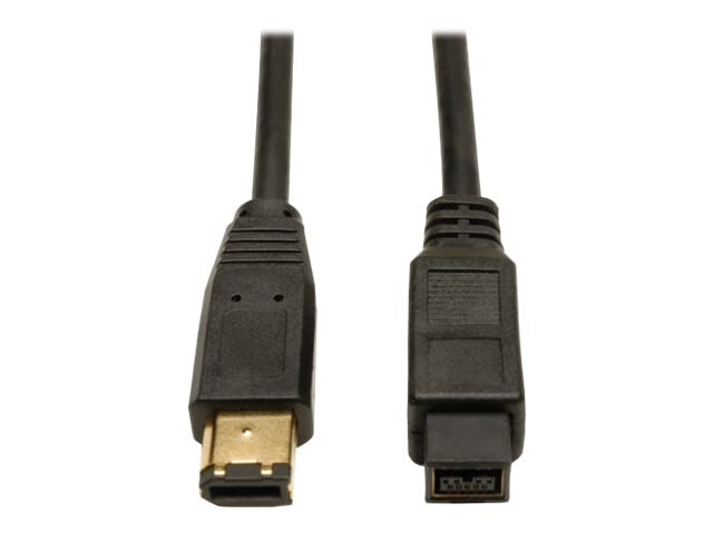 Tripp Lite 9-pin to 6-pin IEEE 1394b Firewire 800 Gold Cable, 10ft, F017-010, 5948116, Cables
