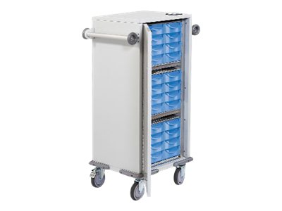 Rubbermaid Small E-lock Transfer Cart with 36 Small Drawers, 1882667, 17633023, Computer Carts - Medical