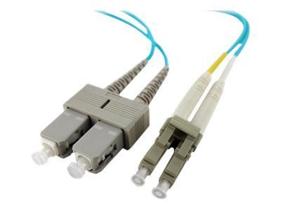 Axiom LC-SC 50 125 OM4 Multimode Duplex Cable, 6m, LCSCOM4MD6M-AX, 17576057, Cables