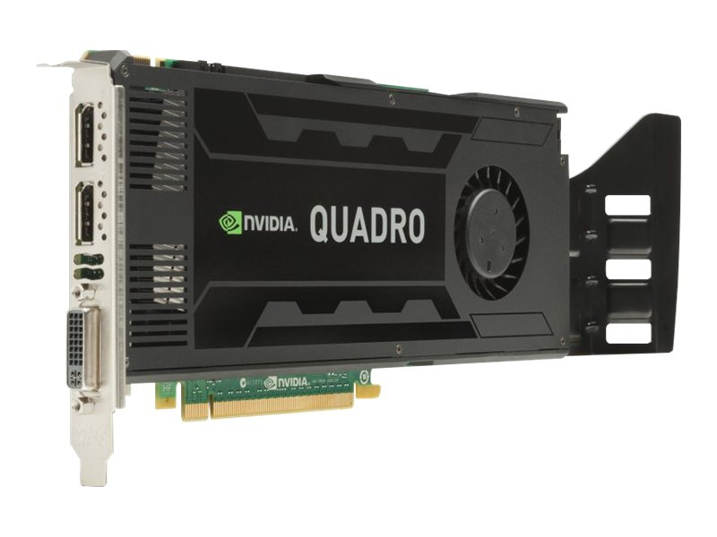 HP Smart Buy NVIDIA Quadro K4000 PCIe Graphics Card, 3GB GDDR5, C2J94AT, 15516894, Graphics/Video Accelerators