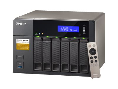 Qnap TS653A SATA 6-Bay Professional Grade Intel Quadcore 1.6G 8GB NAS, TS-653A-8G-US, 31069836, Network Attached Storage