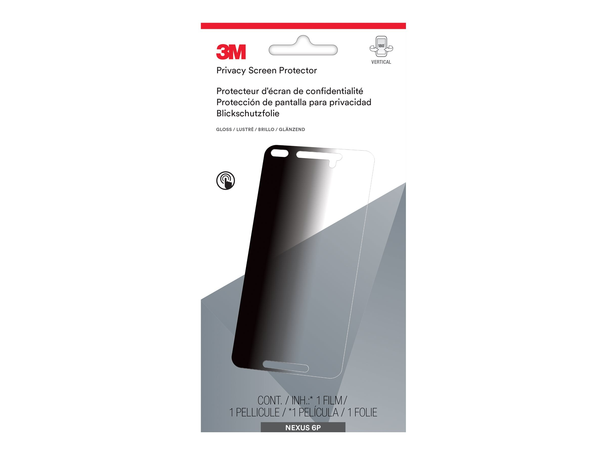 3M Privacy Screen Protector for Google Nexus 6P