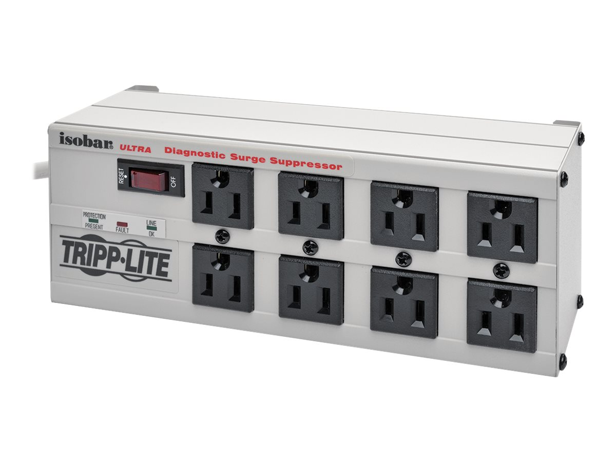 Tripp Lite Isobar Ultra Surge (8) Outlet 12ft Cord LED'S 3840 Joules, ISOBAR8ULTRA