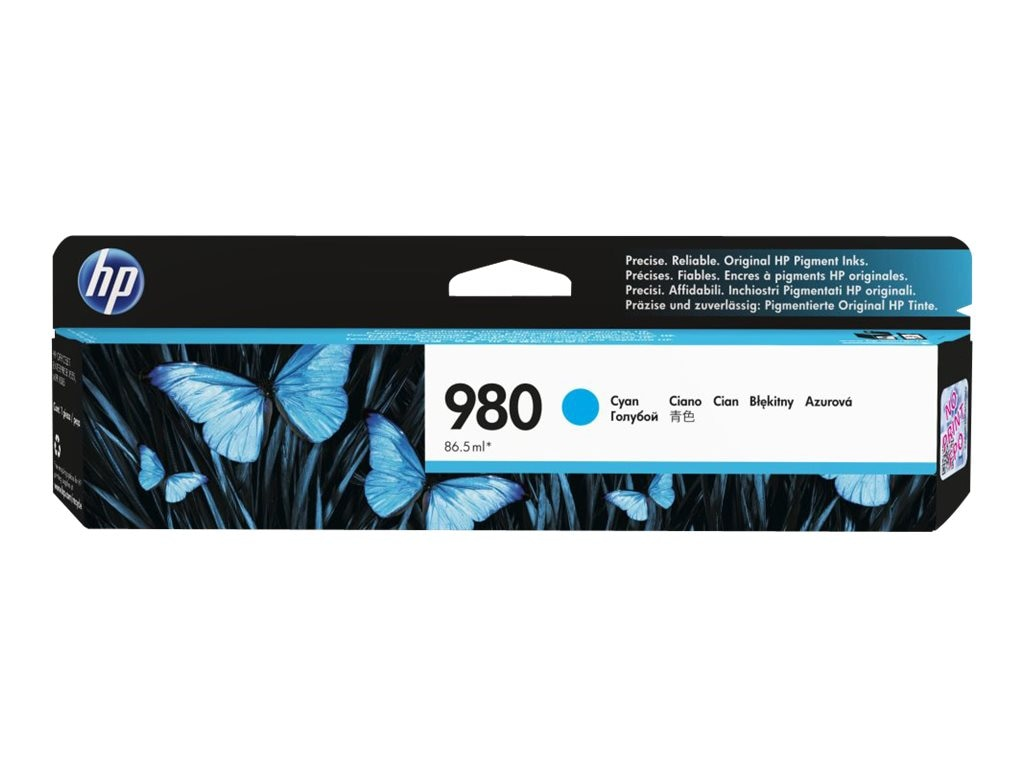 HP 980 (D8J07A) Cyan Original Ink Cartridge, D8J07A, 16843563, Ink Cartridges & Ink Refill Kits