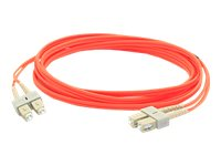 ACP-EP SC-SC 62.5 125 OM1 Multimode LSZH Duplex Fiber Cable, Orange, 3m