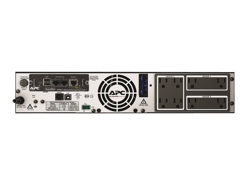 APC Smart-UPS X1500VA 2U Rack Tower LCD UPS (8) Outlets, Network Card, SMX1500RM2UNC