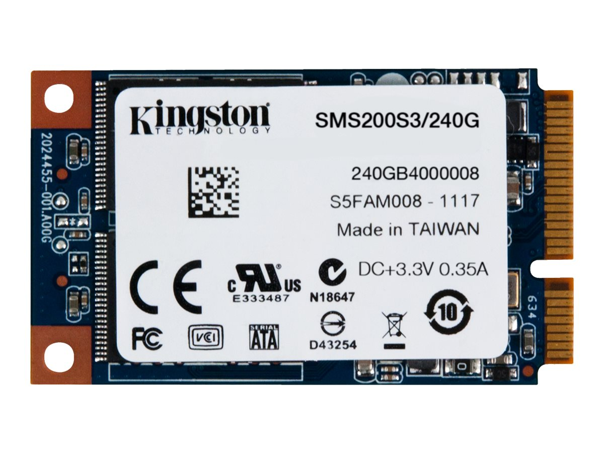 Kingston 240GB SSDNow mS200 mSATA 6Gb s Internal Solid State Drive